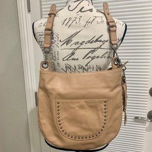 "Like new ""The Sak"" Tan leather hobo style purse"
